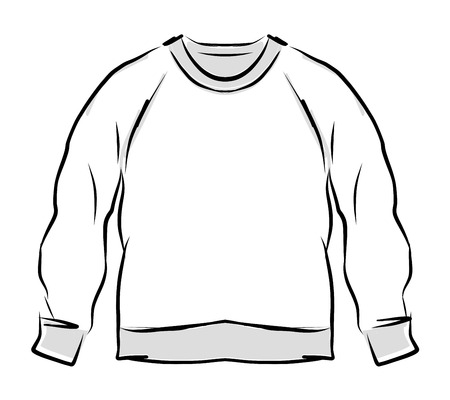 casual hooded top: Abstract sweatshirt sketch for your design