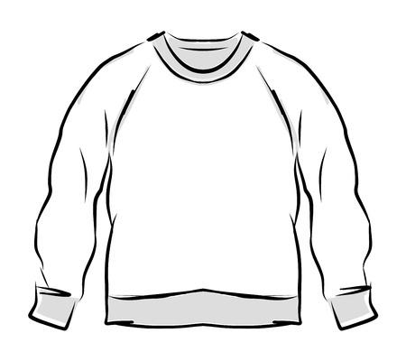 zipper hooded sweatshirt: Abstract sweatshirt sketch for your design