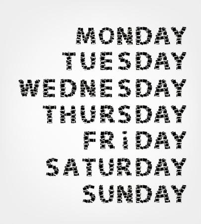 Jours de la semaine fabriqués à partir de cadres photo