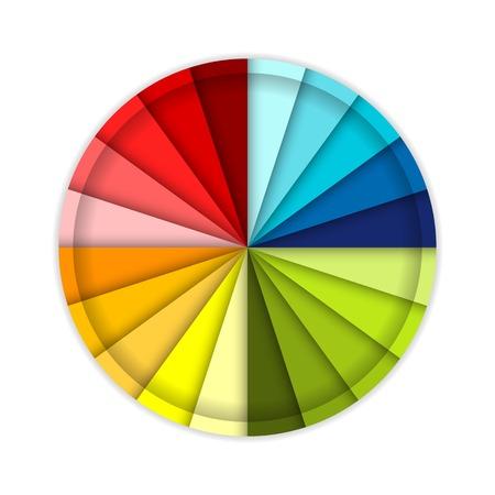 sampler: Palette of color wheel, for your design