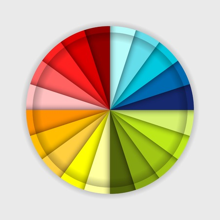 Palette of color wheel, for your design Vector