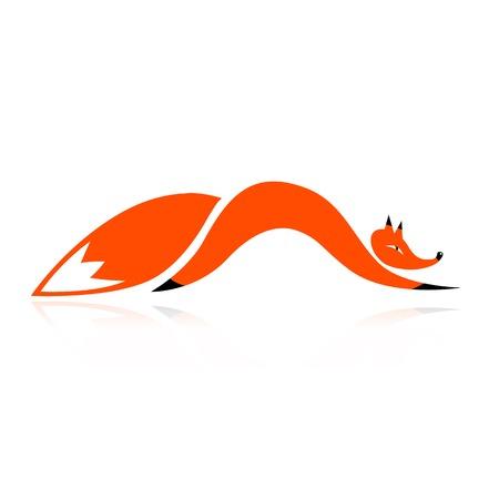 the tail: Silueta Fox para su dise�o Vectores