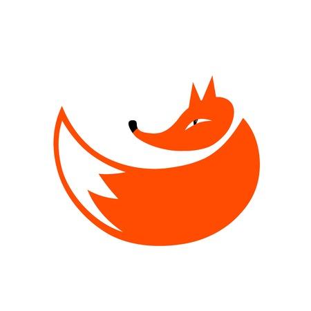 fox face: Silueta Fox para su dise�o Vectores