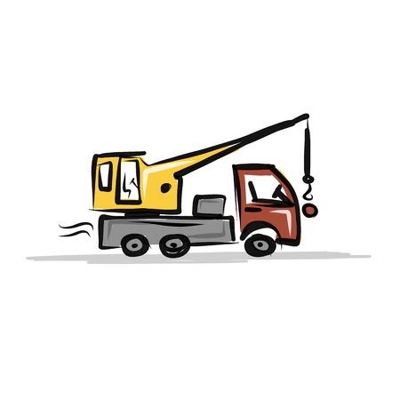 mat�riel chantier: camion-grue, mat�riel de construction pour votre conception