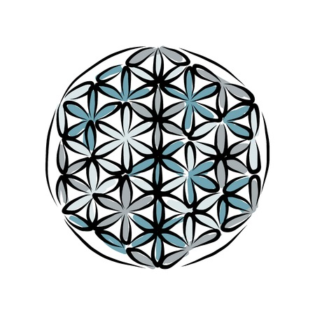 kundalini: Flower of Life, sketch for your design Illustration