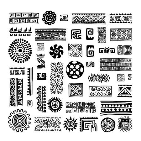 Ethnic handmade ornament for your design Stock Vector - 29228190