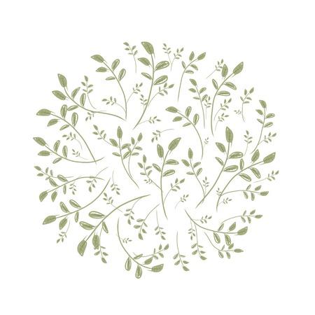 spring leaf: Spring leaf frame for your design