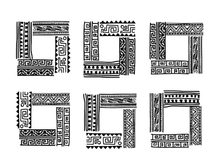 Frame with ethnic handmade ornament for your design Stock Vector - 29228228