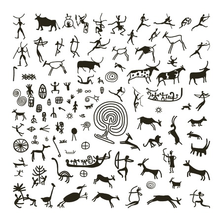 peinture: Les peintures rupestres, croquis de votre conception