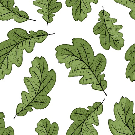 Oak leaf seamless pattern for your design Vector
