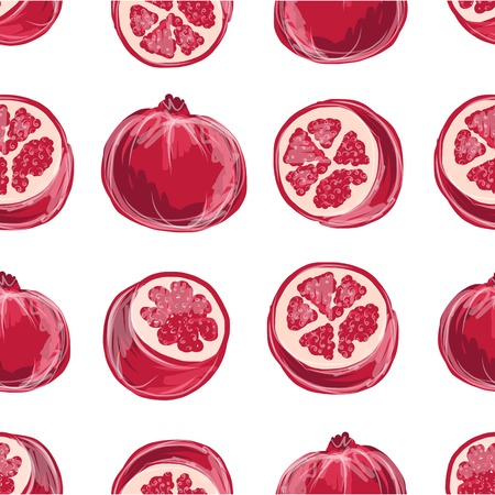 pomegranate juice: Pomegranate seamless pattern for your design
