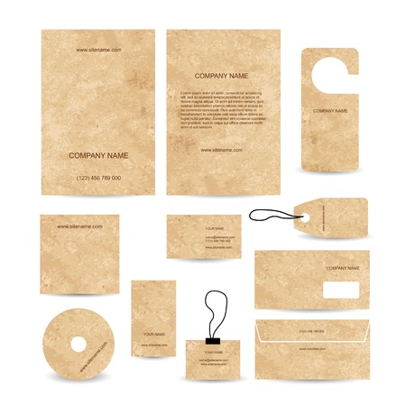 Set of abstract business cards template empty Vector