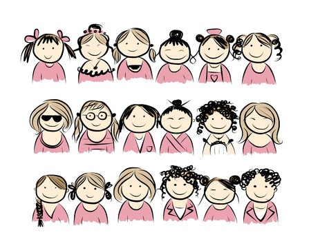 Group of women for your design Vector