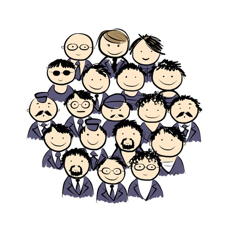 Group of men for your design Vector