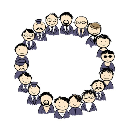 Male circle for your design Vector