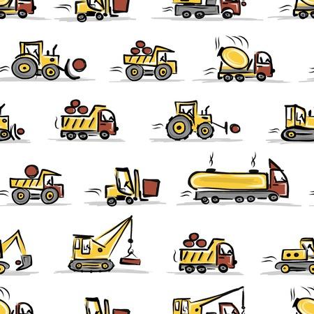 mat�riel chantier: Ensemble d'�quipements de construction, la conception seamless Illustration