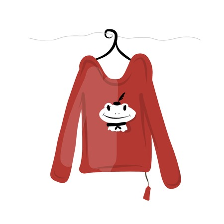 t shirt blouse: Top on hangers with funny frog design