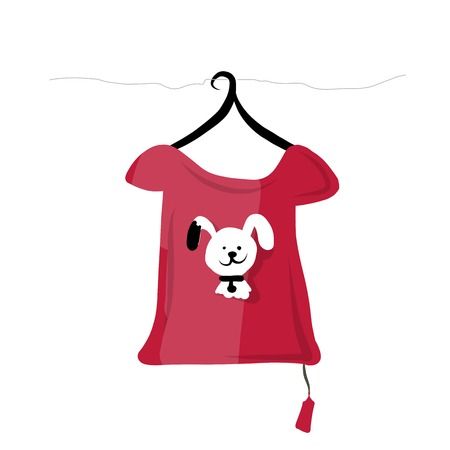 Top on hangers with funny animal design Vector
