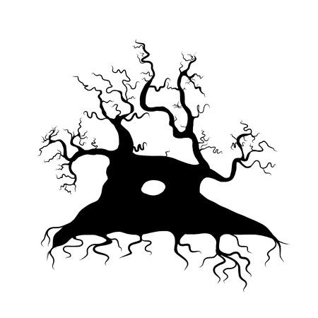 Aislado Estilo De Dibujo Del árbol Del Remolino En Fondo Blanco ...