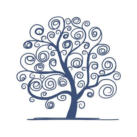 あなたのデザインの美しい芸術の木