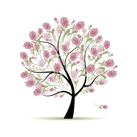 Spring tree floral for your design Vector Illustration
