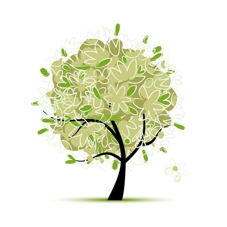green plants: Art tree green for your design