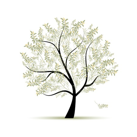 Olive tree for your design Vector