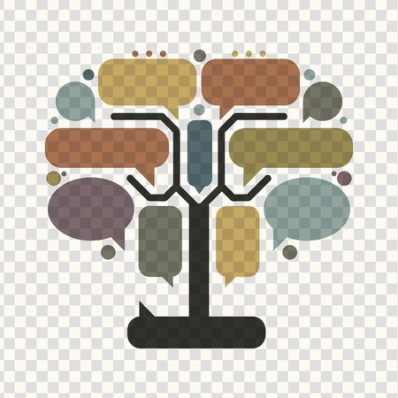 Art tree with frames, infographic concept Vector