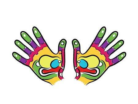 Hands sketch for your design, massage reflexology Vector
