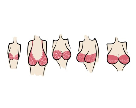 Female breast sketch for your design Vector