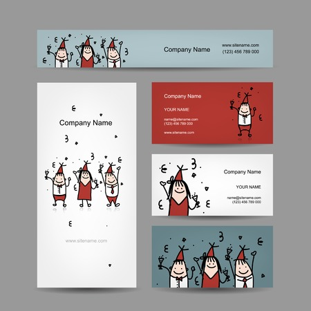Design of business cards with corporate party Vector