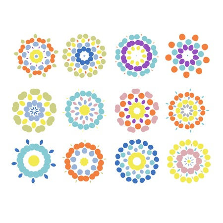 Set of floral ornaments for your design Vector