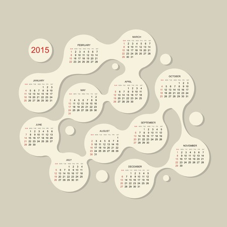 Calendar grid 2015 for your design Vector