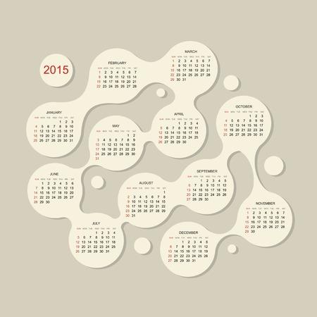 Calendar grid 2015 for your design Illustration