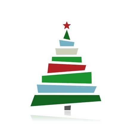 あなたの設計のための抽象的なクリスマス ツリー  イラスト・ベクター素材