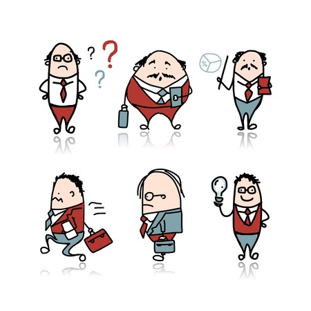Businessmen characters Vector
