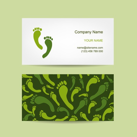 reflexology: Business cards design, foot massage