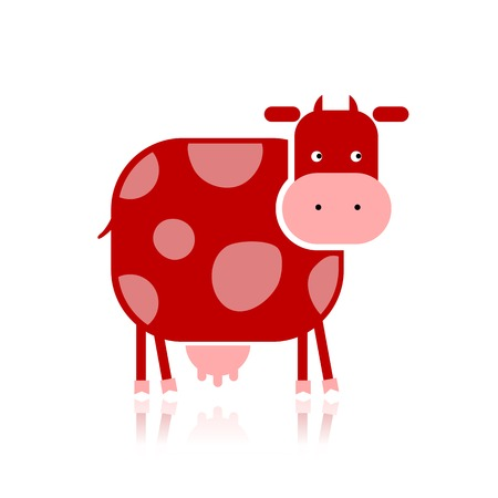 Funny cow for your design Vector