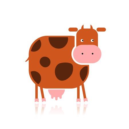 Vaca divertida para su diseño Foto de archivo - 33379752
