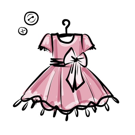 hanging girl: Baby dress on hangers for your design