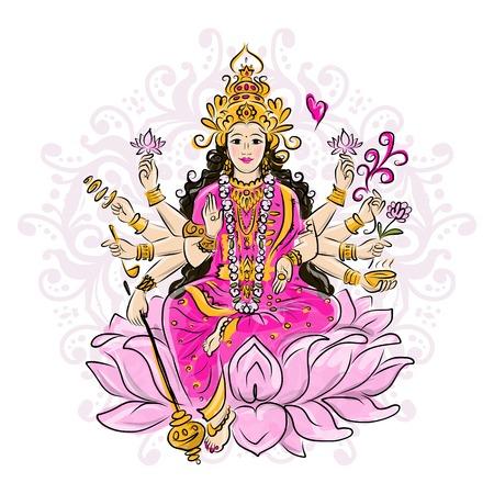 shakti: Indian goddess Shakti, sketch for your design