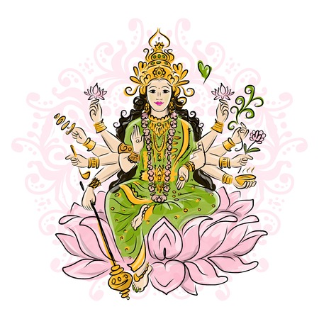 devi: Indian goddess Shakti sketches