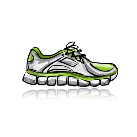 free running: Sport sneakers, sketch for your design