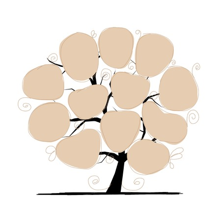 digital composite: Art tree with papers for your text.  Illustration