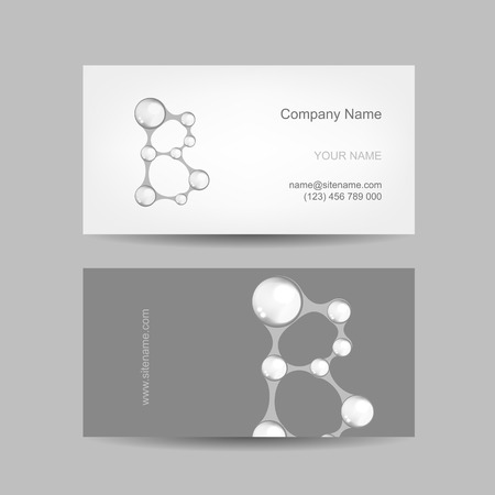 b ball: Business card design with letter B