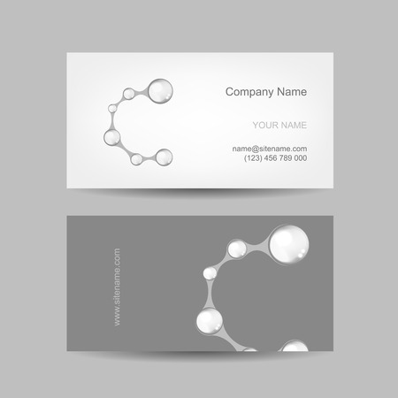 Business card design with letter C
