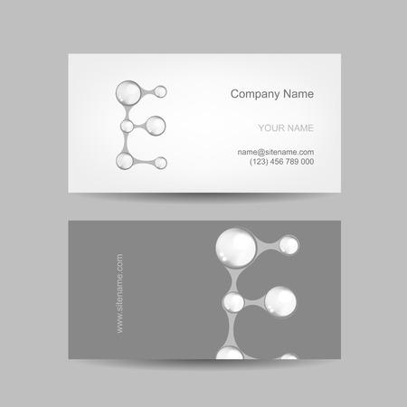 e card: Business card design with letter E Illustration