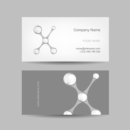 Business card design with letter X Vector