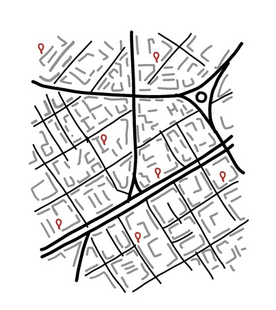 Sketch of city map for your design Vector