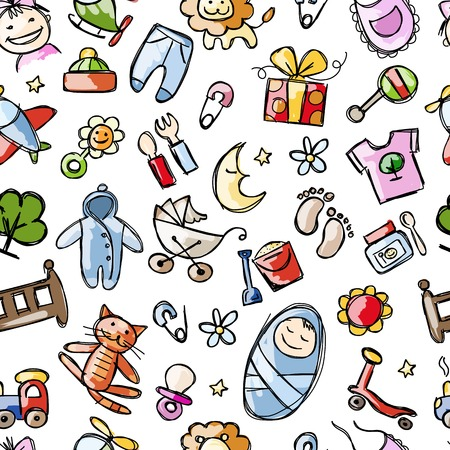 car clothes: Baby seamless pattern for your design